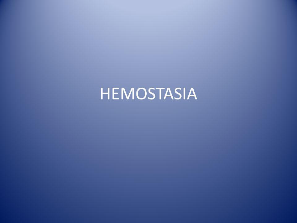 HEMOSTASIA Secundária – Anticoagulantes Heparina não fracionada – Aumenta atividade da ATIII – Aumenta PTTa Heparina de baixo peso molecular – Enoxaparina (Clexane), Dalteparina (Fragmin) – Inibe fator Xa – Não aumenta PTTa
