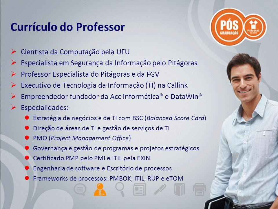 Adriano Graziosi & Márcio MoreiraUnidade 0 - slide 3 de 5Gestão de Projetos de TI - GPTI Currículo do Professor  Cientista da Computação pela UFU  E