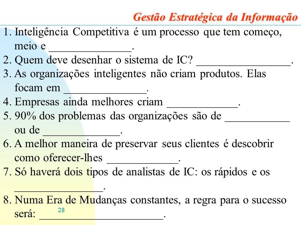 28 Gestão Estratégica da Informação 1.