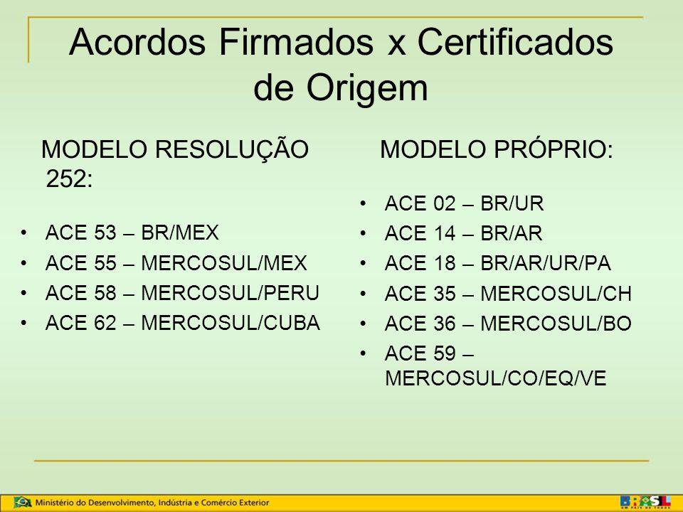 Regime de Origem da Aladi Certificado de Origem: quem pode emitir.