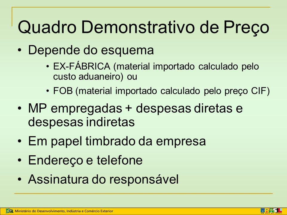 Certificado de Origem Form A Emissor BANCO DO BRASIL Documentação exigida CONHECIMENTO DE EMBARQUE FATURA COMERCIAL 3 VIAS DO FORM A PREENCHIDAS QUADRO DEMONSTRATIVO DE PREÇO