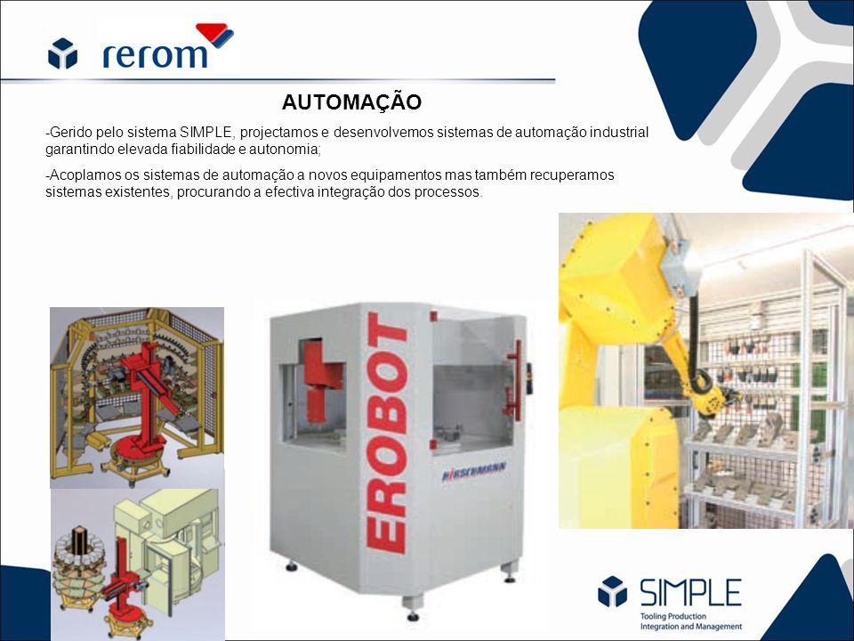 AUTOMAÇÃO -Gerido pelo sistema SIMPLE, projectamos e desenvolvemos sistemas de automação industrial garantindo elevada fiabilidade e autonomia; -Acopl