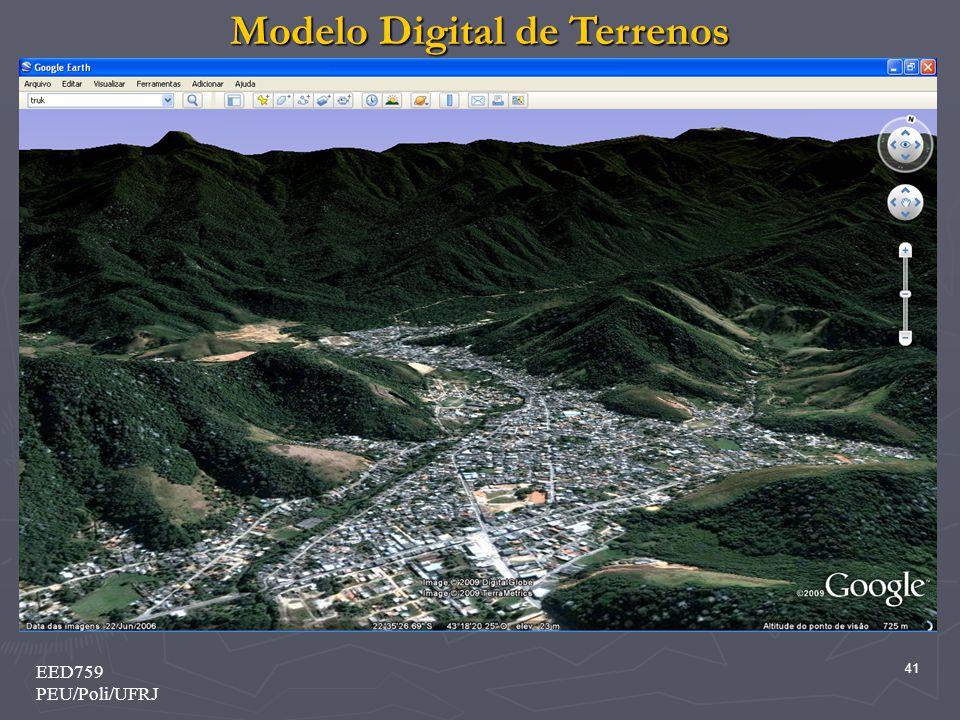 Modelo Digital de Terrenos 41 EED759 PEU/Poli/UFRJ