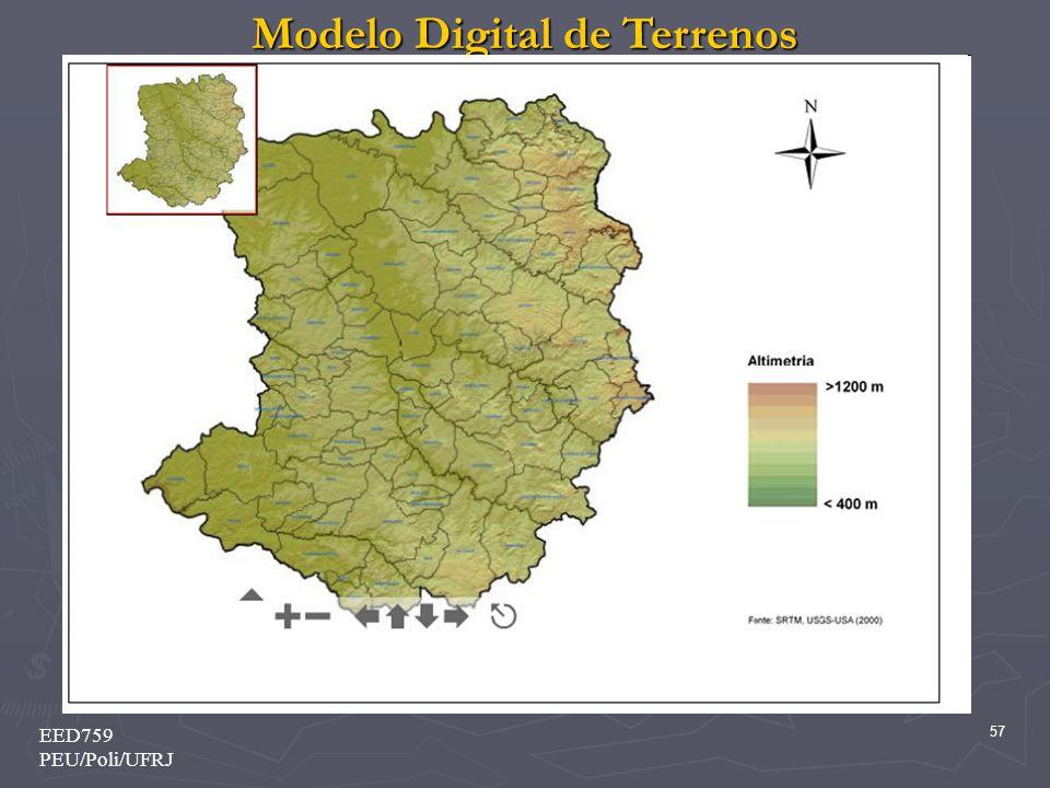 Modelo Digital de Terrenos 57 EED759 PEU/Poli/UFRJ