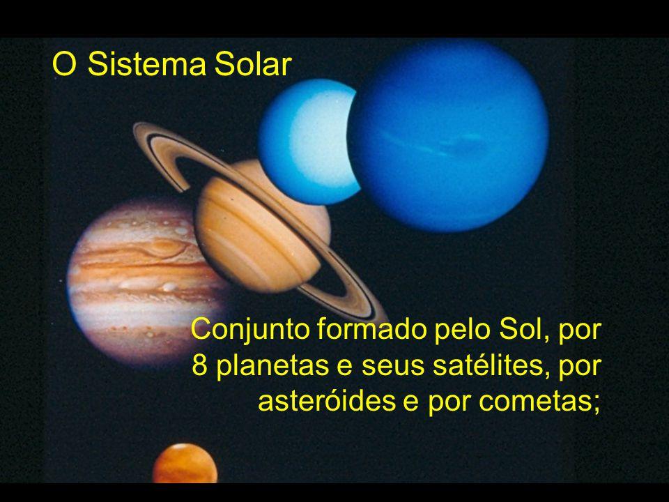 Conjunto formado pelo Sol, por 8 planetas e seus satélites, por asteróides e por cometas;