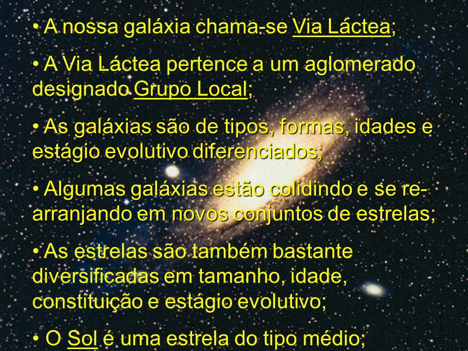 Via Láctea http://atlas.zevallos.com.br/galaxy.html