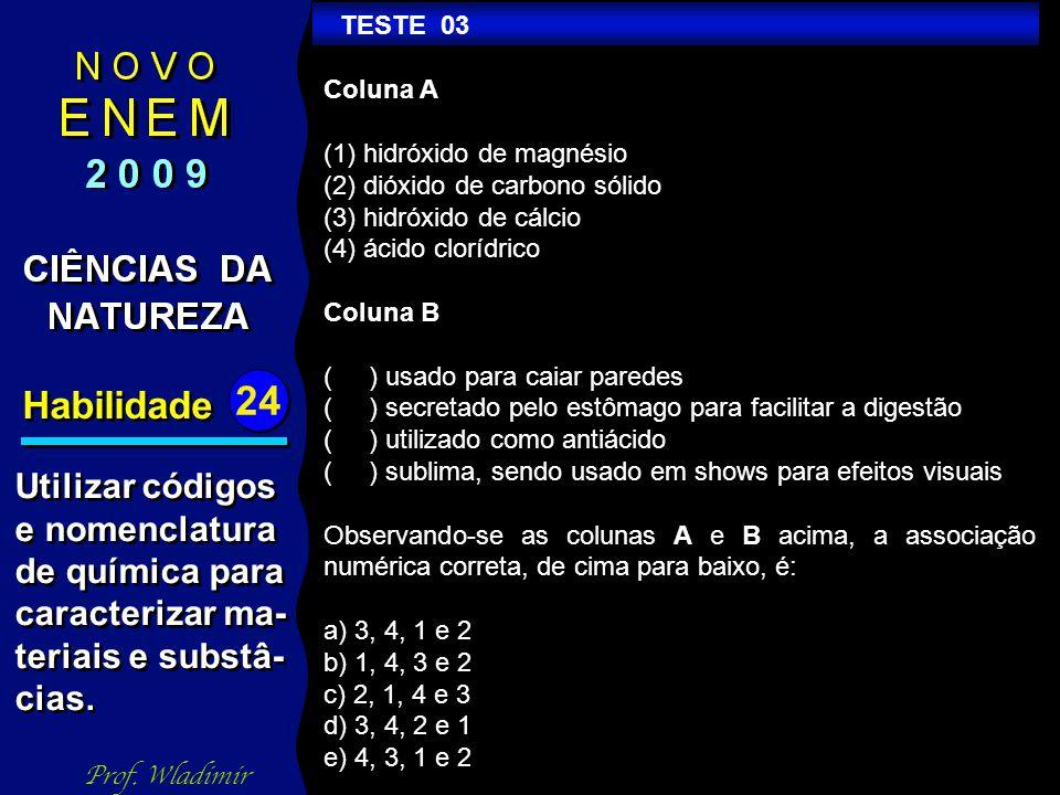 Habilidade 24 TESTE 08 Prof.
