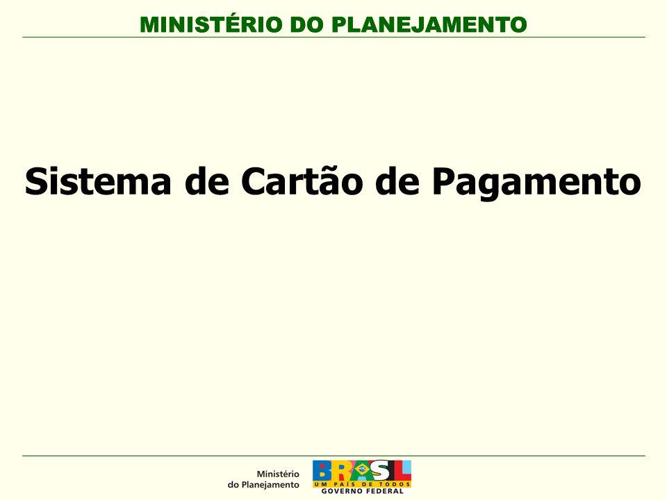 MINISTÉRIO DO PLANEJAMENTO Sistema de Cartão de Pagamento MINISTÉRIO DO PLANEJAMENTO
