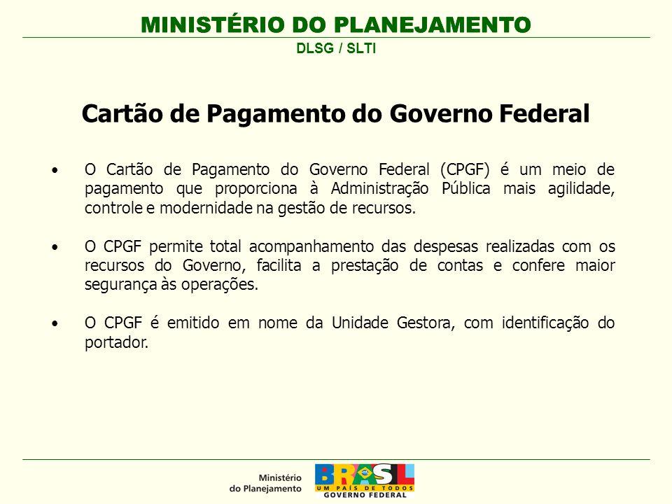 O Cartão de Pagamento do Governo Federal (CPGF) é um meio de pagamento que proporciona à Administração Pública mais agilidade, controle e modernidade