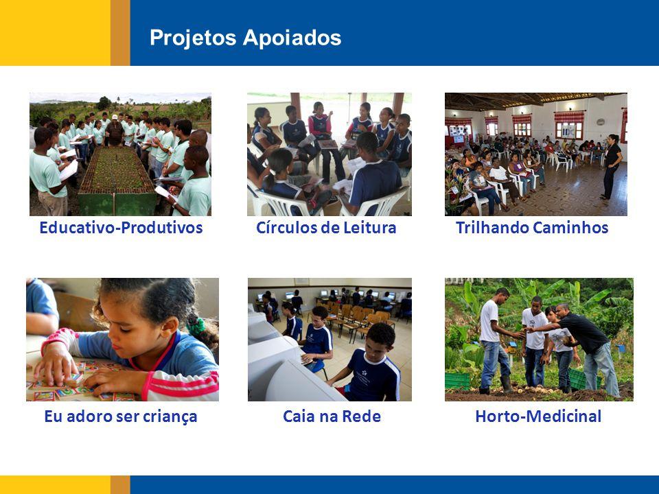 Projetos Apoiados Educativo-ProdutivosCírculos de Leitura Caia na Rede Trilhando Caminhos Horto-MedicinalEu adoro ser criança