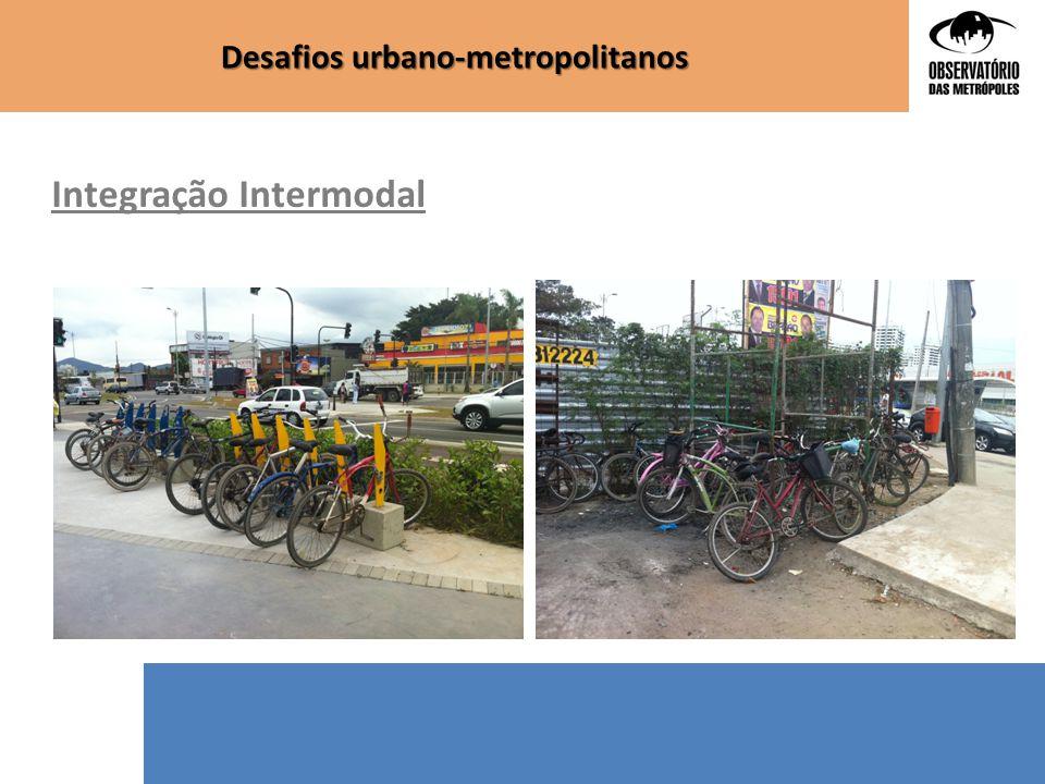 Desafios urbano-metropolitanos Integração Intermodal