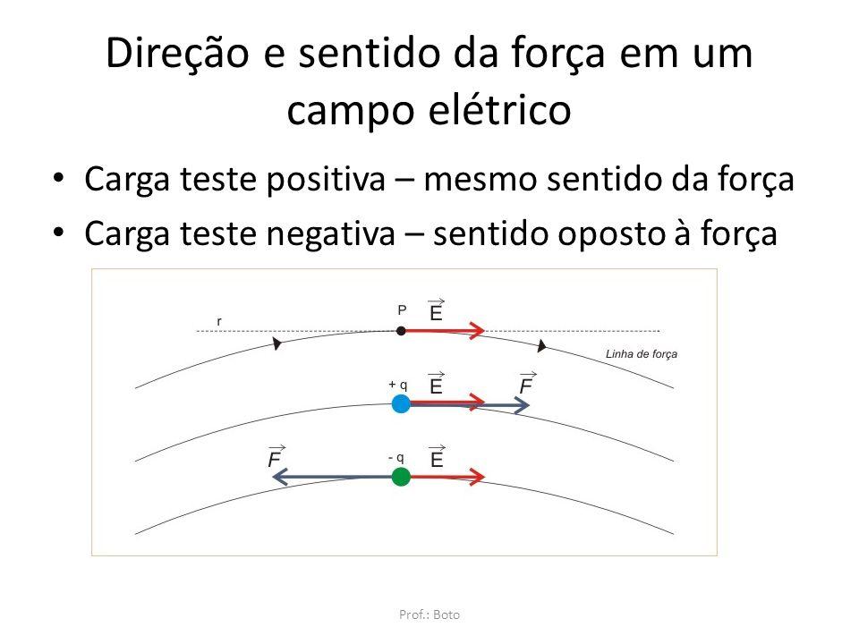 Lembre-se: O campo elétrico é tridimensional Prof.: Boto