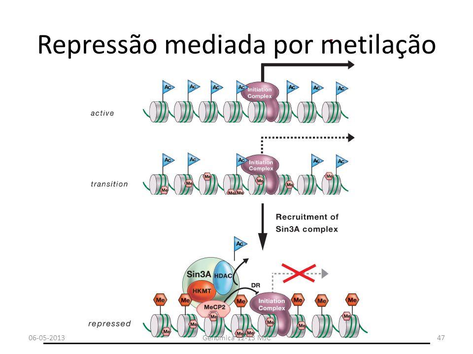 Repressão mediada por metilação 06-05-2013Genómica 12-13 MJC47