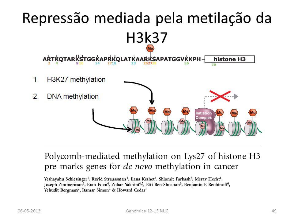 Repressão mediada pela metilação da H3k37 06-05-2013Genómica 12-13 MJC49