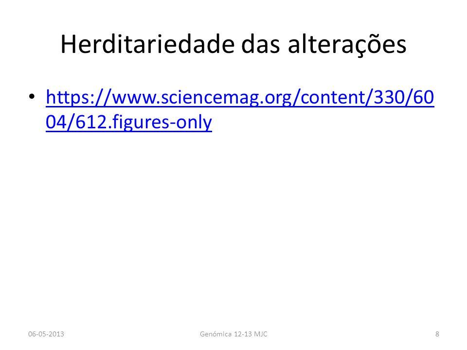 Metilação aberrante em cancro 06-05-2013Genómica 12-13 MJC29