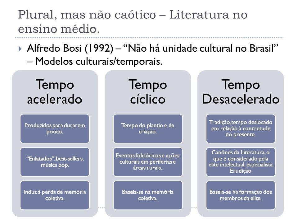 Plural, mas não caótico – Literatura no ensino médio.