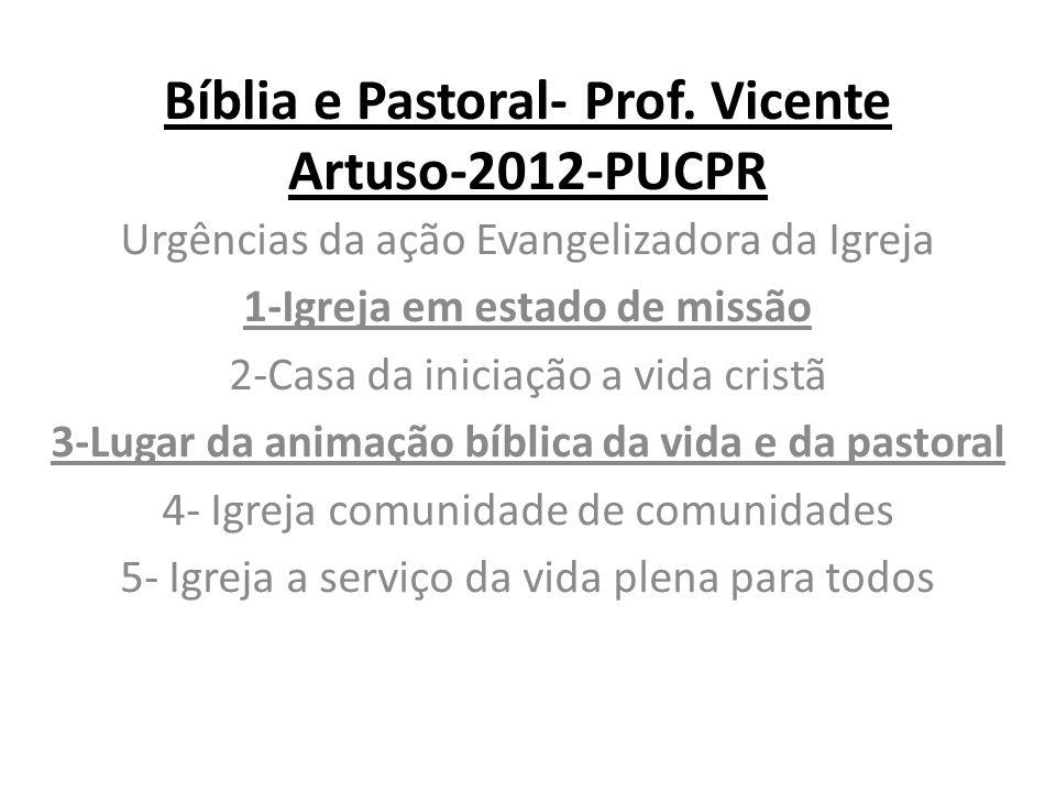 Bíblia e Pastoral- Prof.