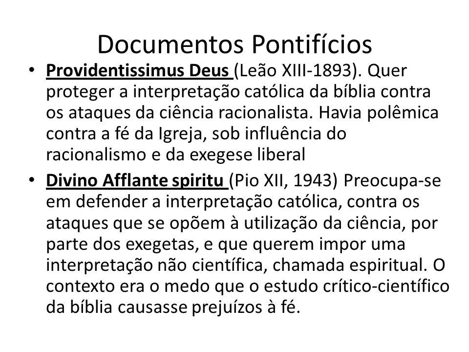 Documentos Pontifícios Providentissimus Deus (Leão XIII-1893).