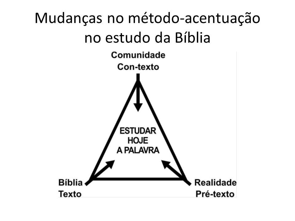 Mudanças no método-acentuação no estudo da Bíblia