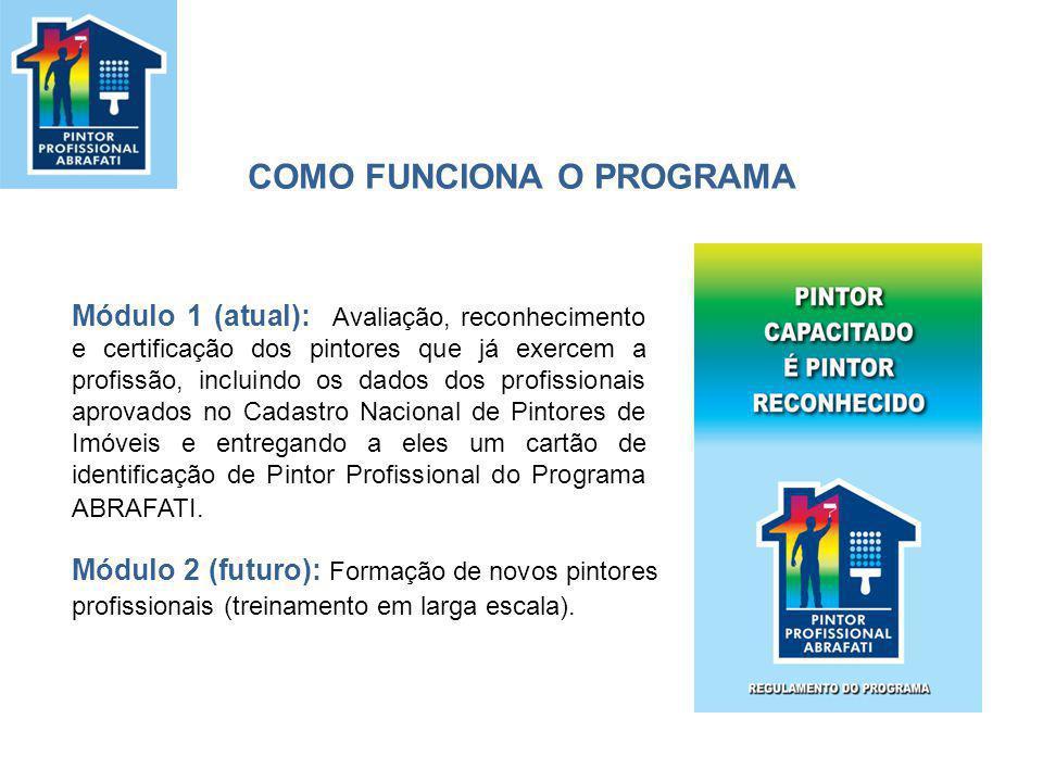 Quem pode participar Pintores que atuam no mercado de serviços de pintura imobiliária há pelo menos três anos.