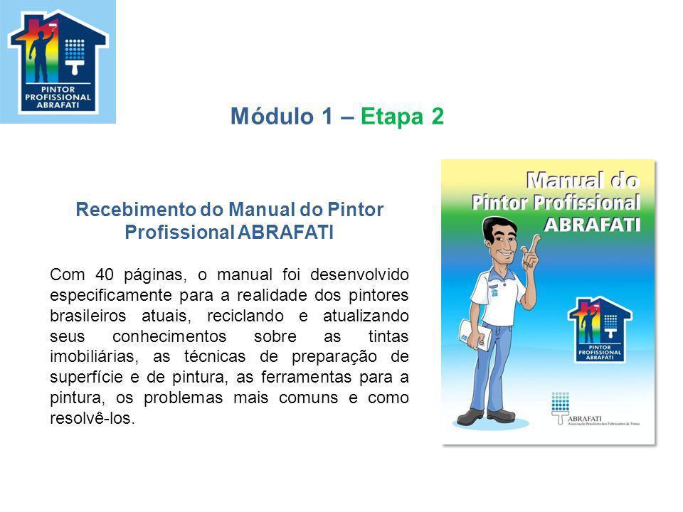 Recebimento do Manual do Pintor Profissional ABRAFATI Com 40 páginas, o manual foi desenvolvido especificamente para a realidade dos pintores brasilei