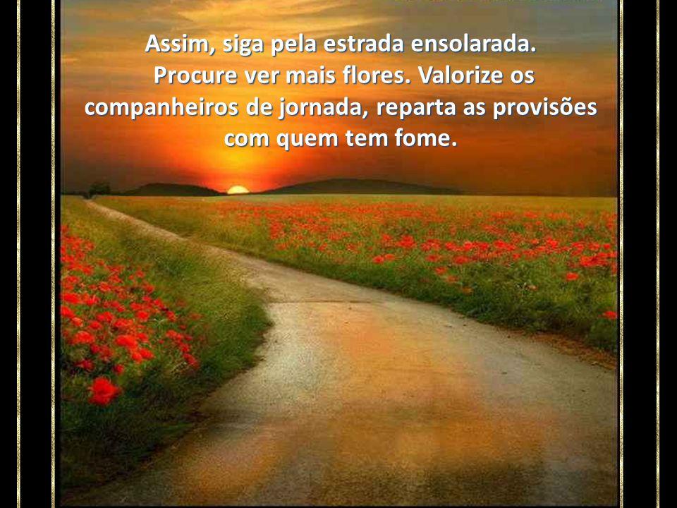 Deus nos ofereceu essa estrada porque nela se encontram as pessoas e situações mais adequadas para nós.