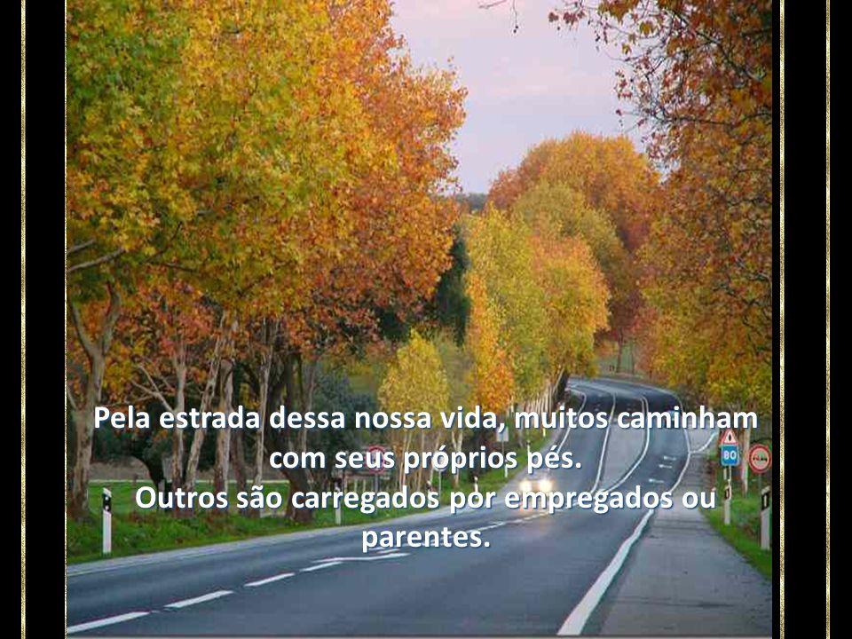 Pela estrada dessa nossa vida, muitos caminham com seus próprios pés.