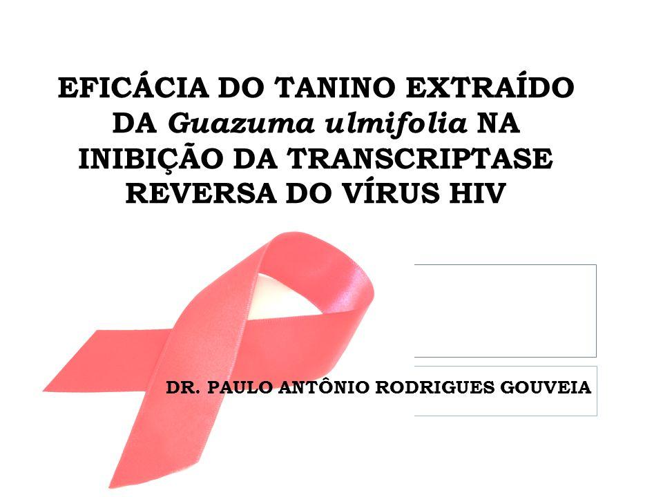 EFICÁCIA DO TANINO EXTRAÍDO DA Guazuma ulmifolia NA INIBIÇÃO DA TRANSCRIPTASE REVERSA DO VÍRUS HIV DR.