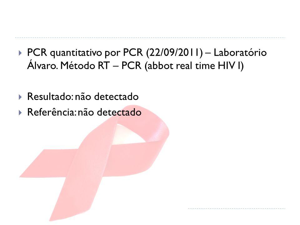  PCR quantitativo por PCR (22/09/2011) – Laboratório Álvaro.