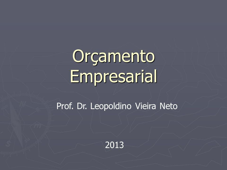 Orçamento Empresarial Prof. Dr. Leopoldino Vieira Neto 2013