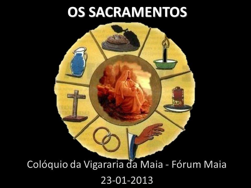 OS SACRAMENTOS OS SACRAMENTOS Colóquio da Vigararia da Maia - Fórum Maia 23-01-2013