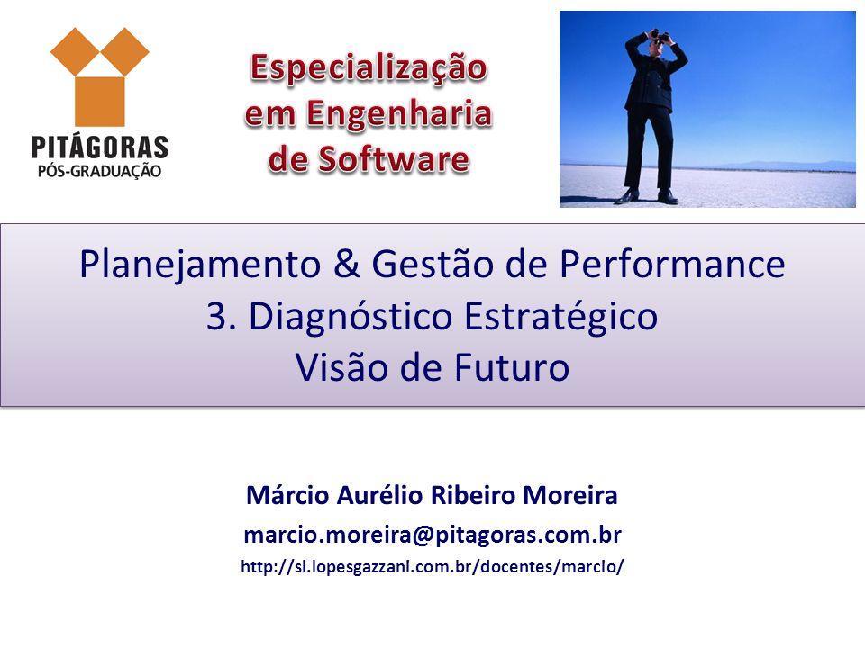 Planejamento & Gestão de Performance 3. Diagnóstico Estratégico Visão de Futuro Márcio Aurélio Ribeiro Moreira marcio.moreira@pitagoras.com.br http://