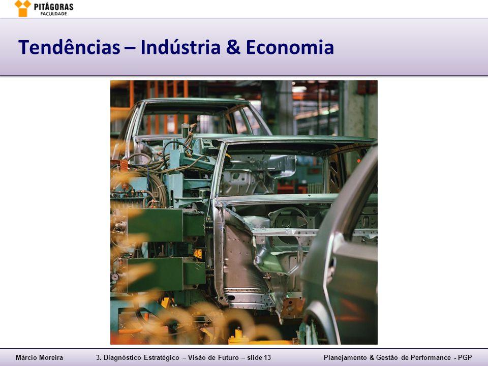 Márcio Moreira3. Diagnóstico Estratégico – Visão de Futuro – slide 13Planejamento & Gestão de Performance - PGP Tendências – Indústria & Economia