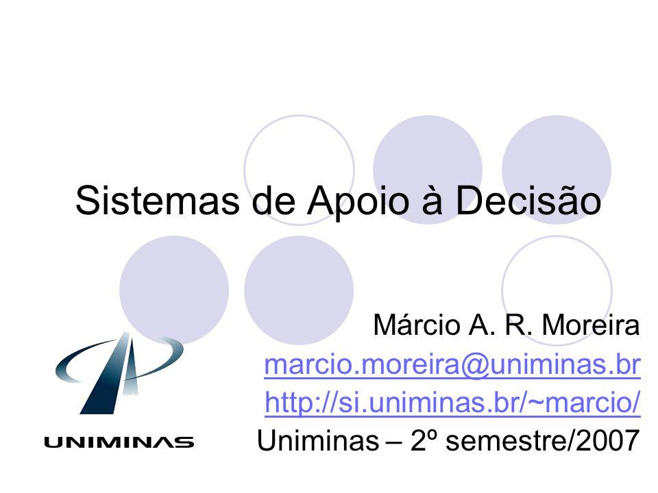 Objetivos e Ementa da disciplina Objetivo:  Conhecer os principais conceitos de sistemas de apoio à decisão em sistemas de informações.