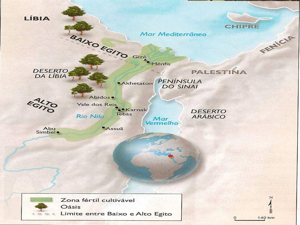 EGITO,dádiva do NILO O Nilo corta o Egito de sul a norte e deságua no mar Mediterrâneo.