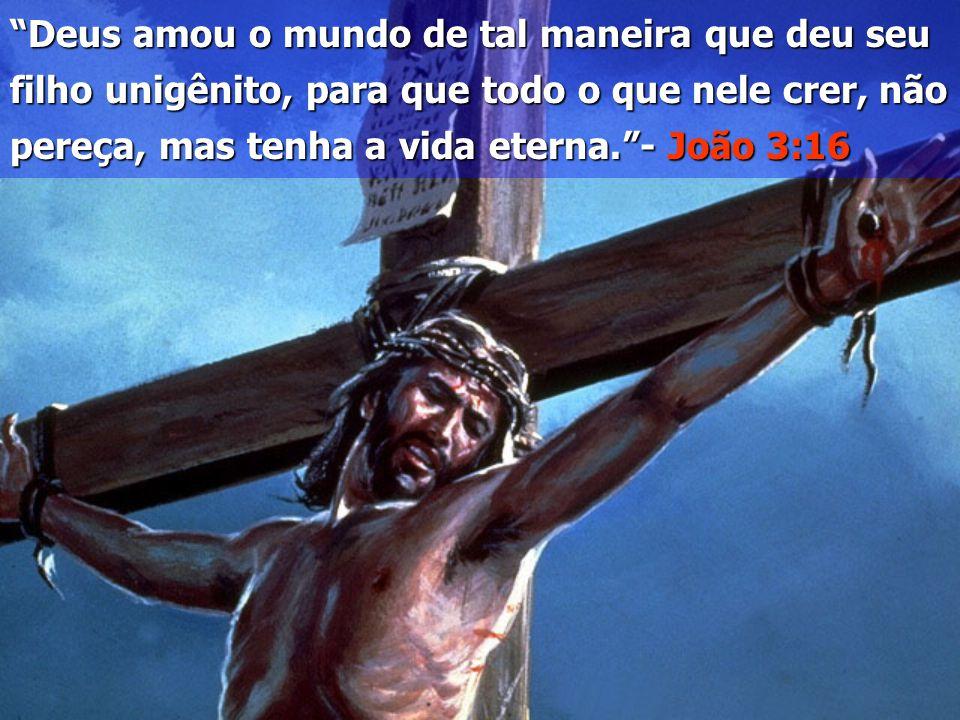 """""""Deus amou o mundo de tal maneira que deu seu filho unigênito, para que todo o que nele crer, não pereça, mas tenha a vida eterna.""""- João 3:16"""