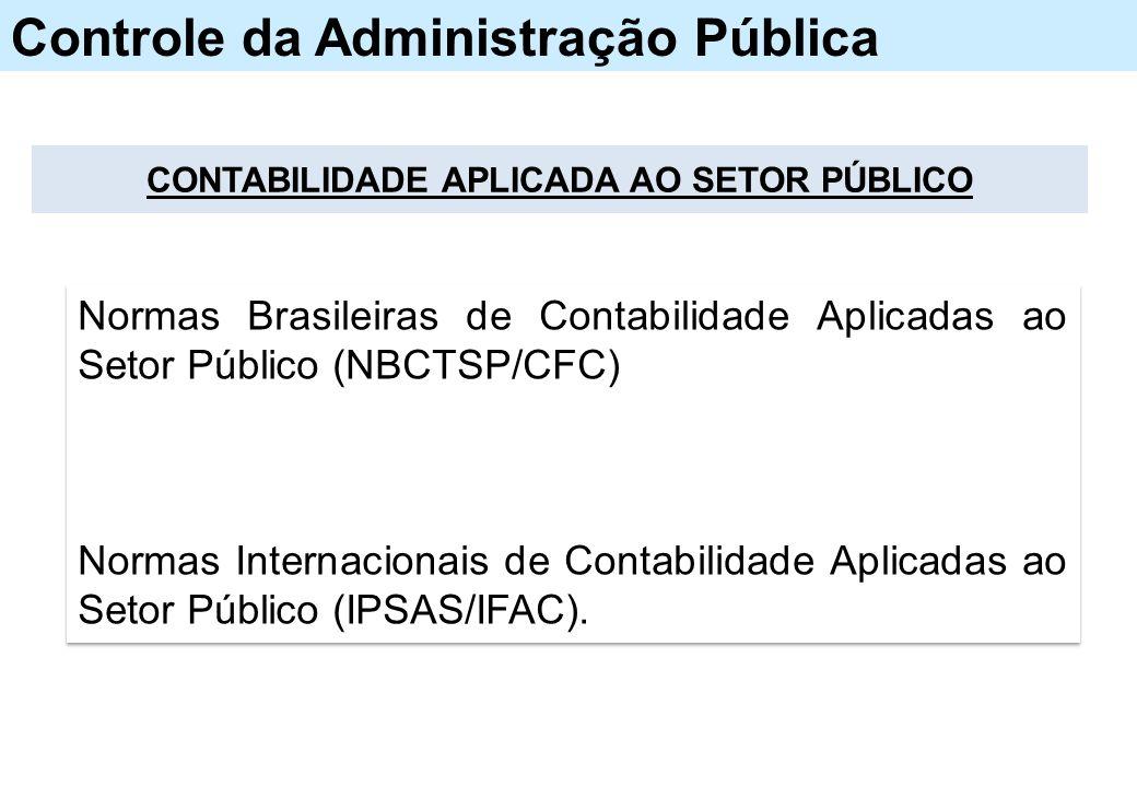 CONTABILIDADE APLICADA AO SETOR PÚBLICO Normas Brasileiras de Contabilidade Aplicadas ao Setor Público (NBCTSP/CFC) Normas Internacionais de Contabilidade Aplicadas ao Setor Público (IPSAS/IFAC).