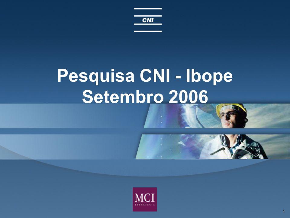 1 Pesquisa CNI - Ibope Setembro 2006