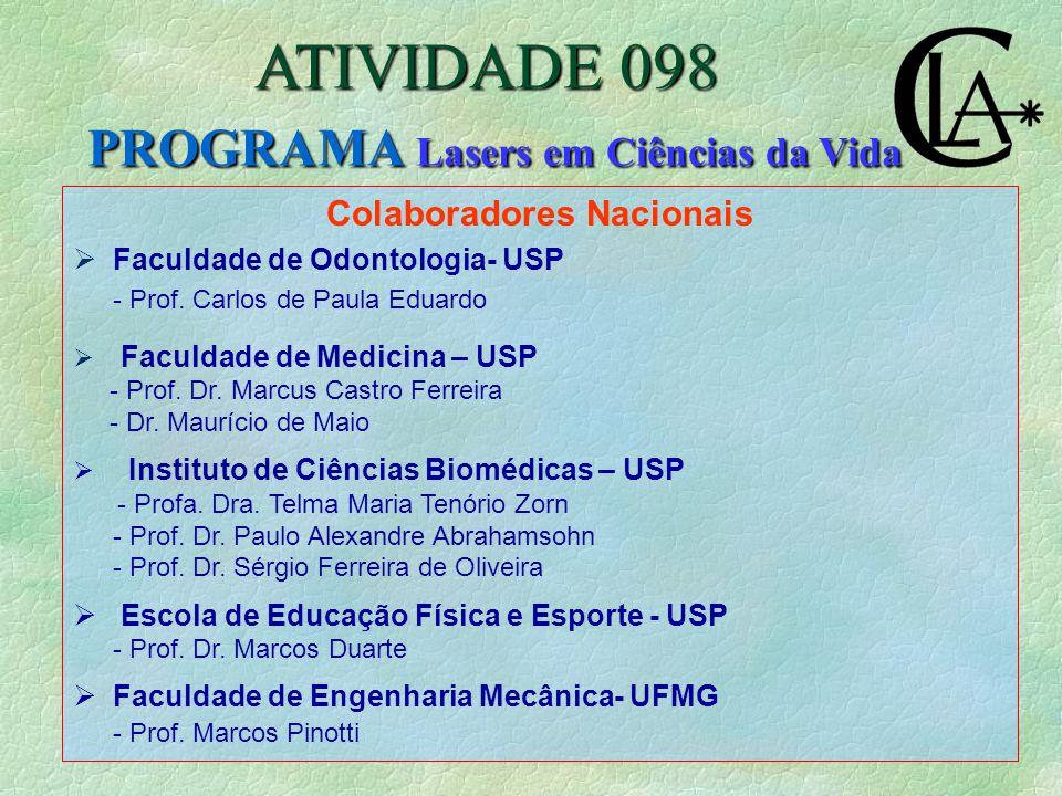 Colaboradores Nacionais  Faculdade de Odontologia- USP - Prof.