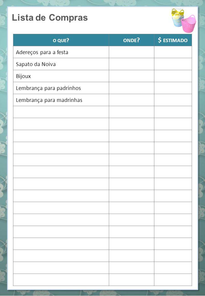 Lista de Músicas CERIMÔNIA QUANDO .