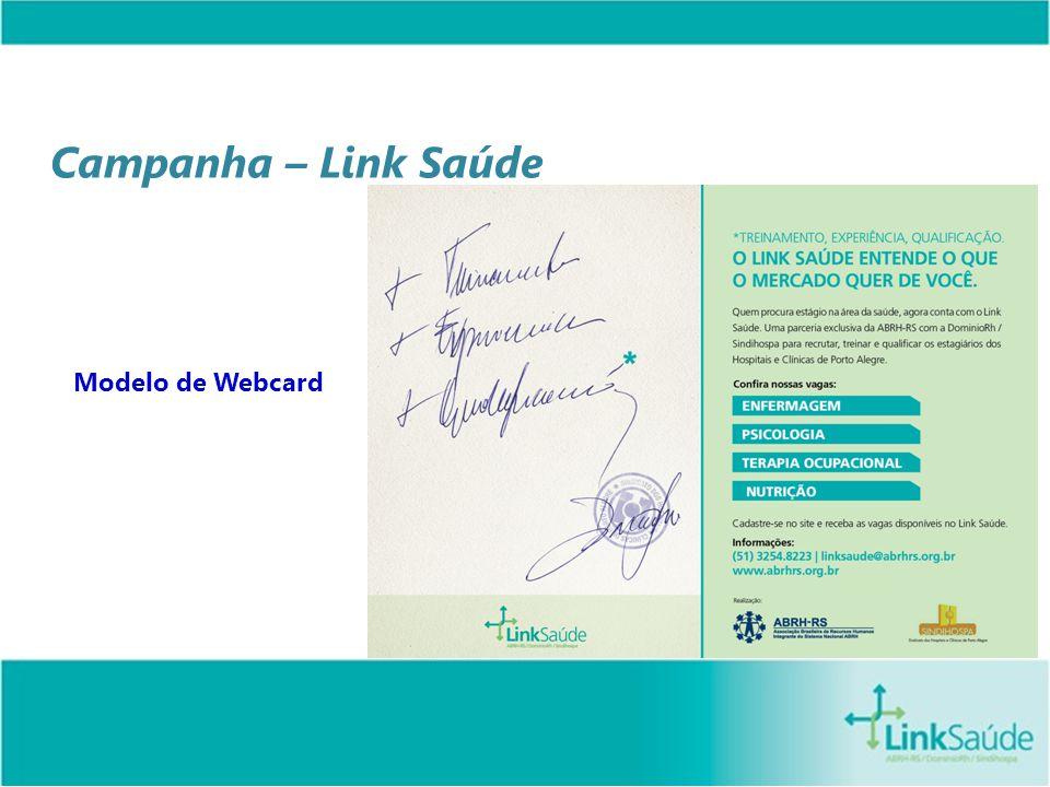 Campanha – Link Saúde Modelo de Webcard