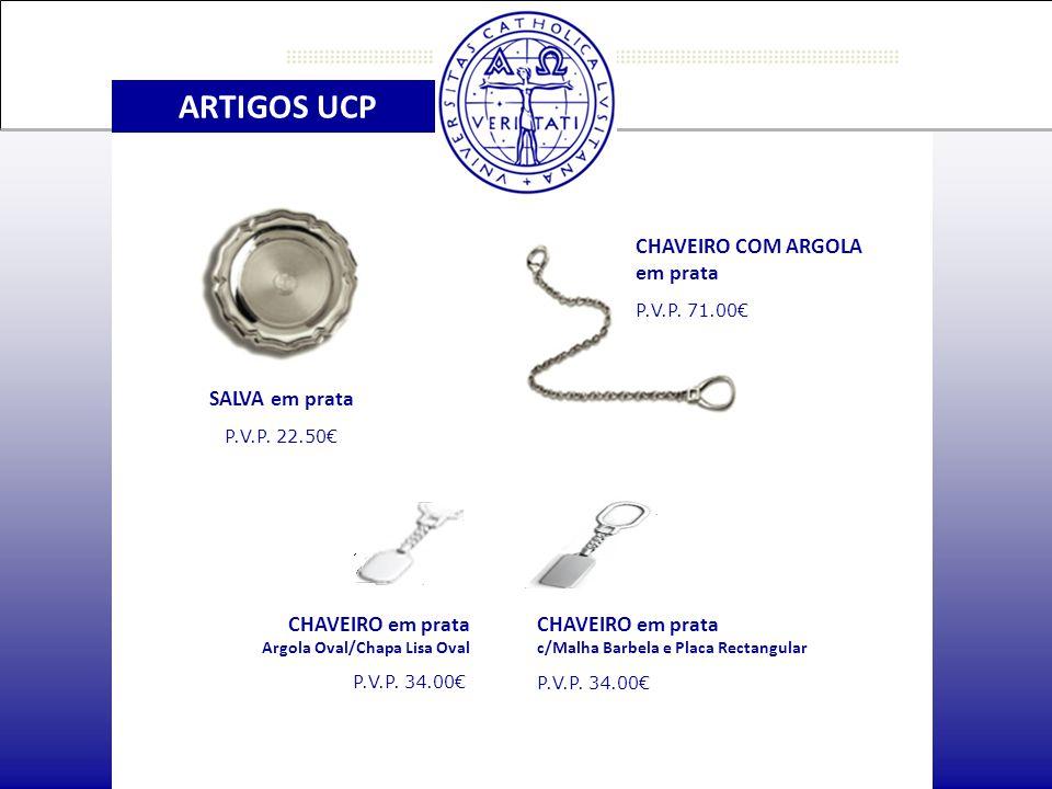 ARTIGOS UCP CHAVEIRO COM ARGOLA em prata P.V.P.