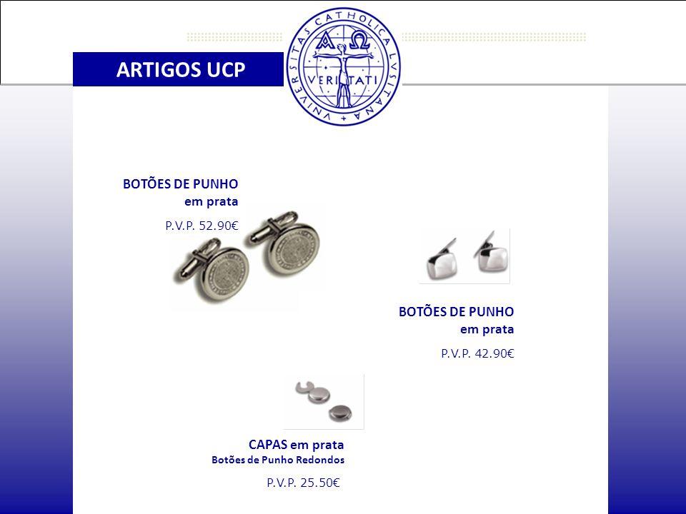 ARTIGOS UCP CAPAS em prata Botões de Punho Redondos P.V.P.