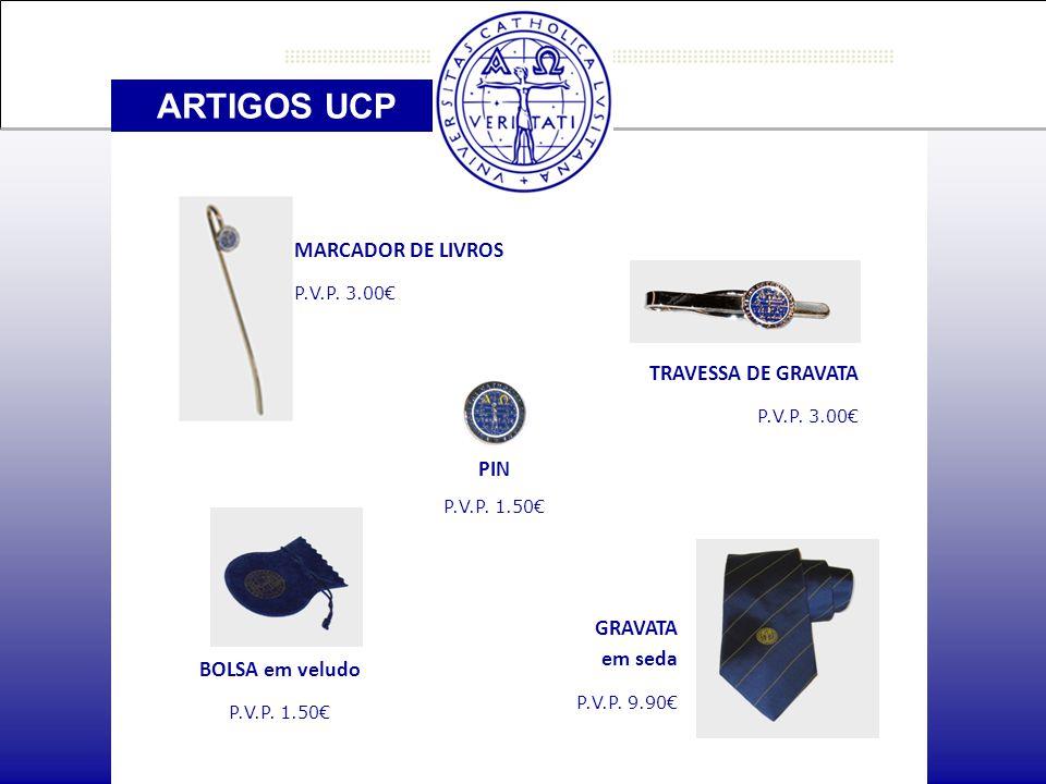 ARTIGOS UCP MARCADOR DE LIVROS P.V.P. 3.00€ PIN P.V.P.