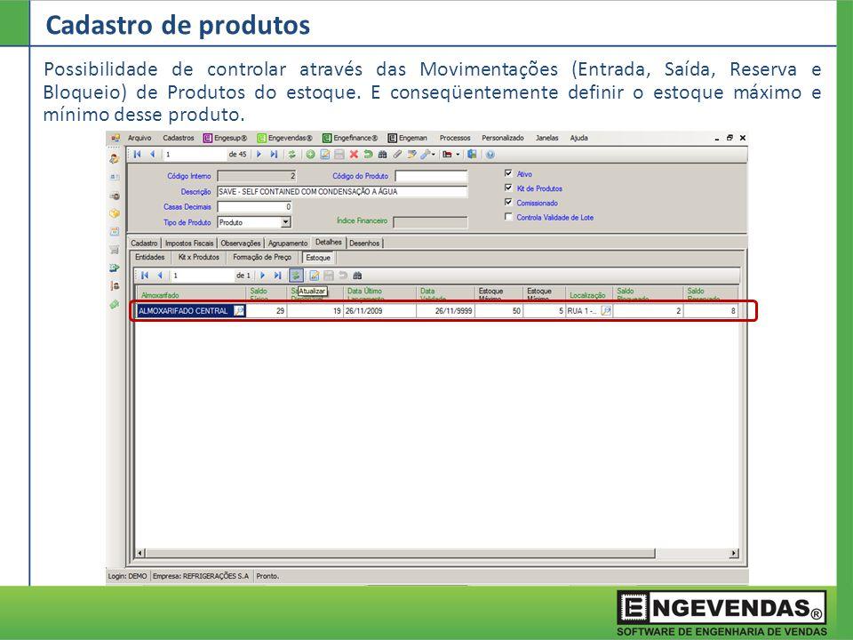 Explosão de Imagens Na aba Desenhos é possível relacionar as imagens dos produtos através do banco de imagens.