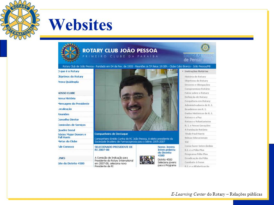 E-Learning Center do Rotary – Relações públicas Websites