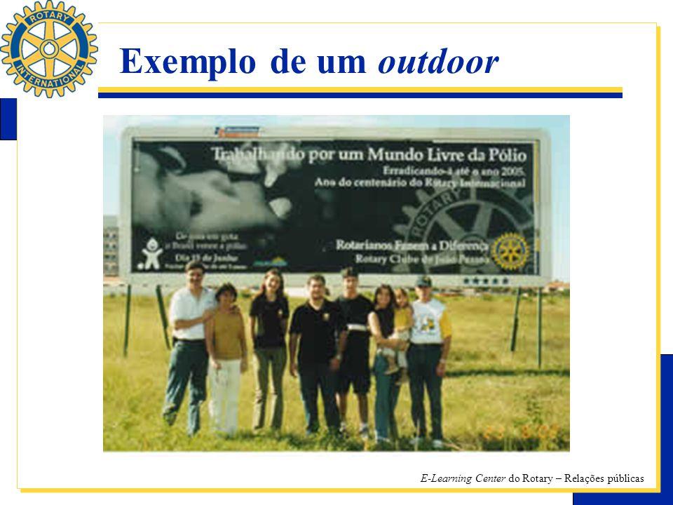 E-Learning Center do Rotary – Relações públicas Exemplo de um outdoor