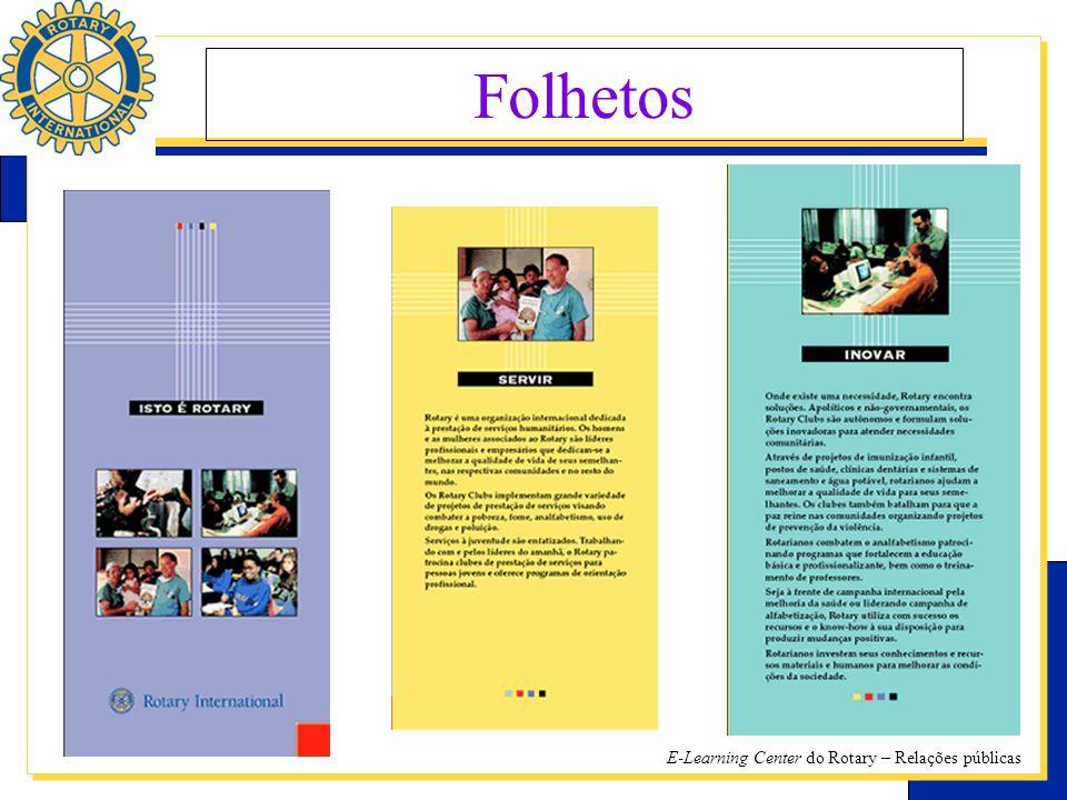 E-Learning Center do Rotary – Relações públicas Folhetos