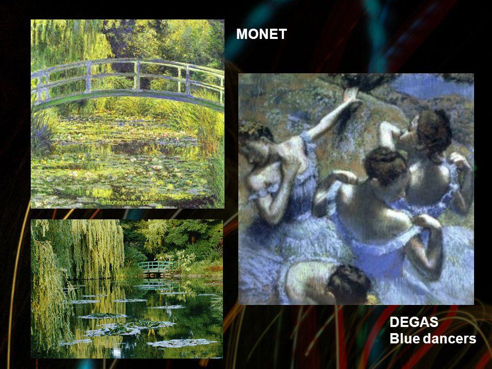 MONET DEGAS Blue dancers