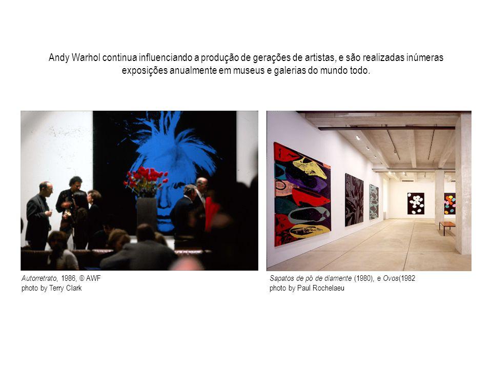 Andy Warhol continua influenciando a produção de gerações de artistas, e são realizadas inúmeras exposições anualmente em museus e galerias do mundo todo.